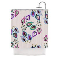 KESS InHouse Louise Leave Pink Shower Curtain (69x70)
