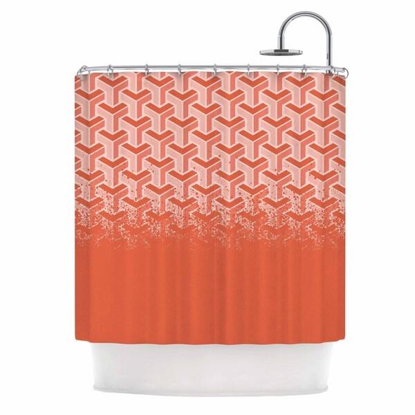 KESS InHouse Just L No Yard Coral Pastel Urban Shower Curtain (69x70)