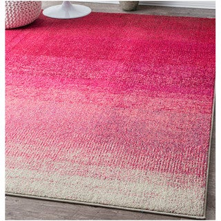 nuLOOM Contemporary Vibrant Ombre Classic Pink Rug (5'3 x 7'7)