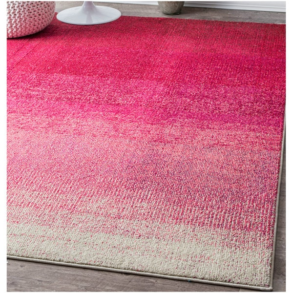 Shop NuLOOM Contemporary Vibrant Ombre Classic Pink Rug (5