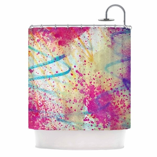 KESS InHouse Liz Perez RAINBOW Purple Multicolor Shower Curtain (69x70)