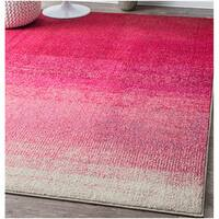 nuLOOM Contemporary Vibrant Ombre Classic Pink Rug (7'10 x 11')