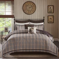 Woorich Willaimsport Tan Jacquard Comforter Set