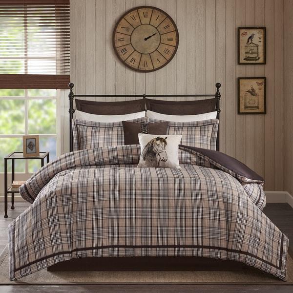 Woorich Willaimsport Tan Jacquard Comforter Set