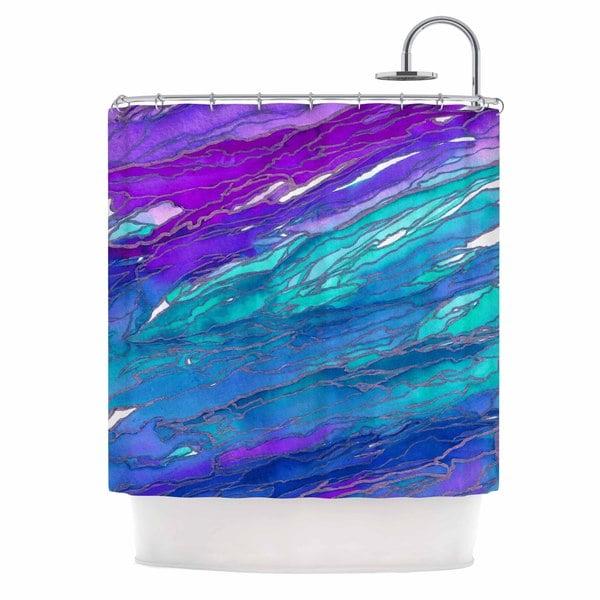 KESS InHouse Ebi Emporium Agate Magic - Purple Blue Aqua Lavender Shower Curtain (69x70)