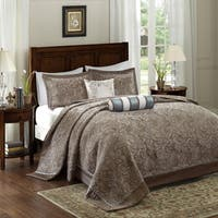 Madison Park Whitman Blue Jacquard Bedspread Set