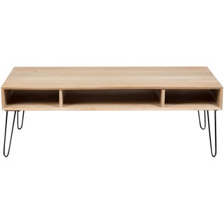 Wanderloot Graphik Mango Wood Coffee Table With Hairpin Legs