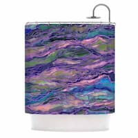 KESS InHouse Ebi Emporium Marble Idea! - Lavender Pink Purple Geological Shower Curtain (69x70)