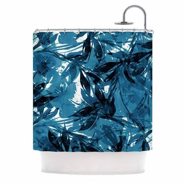 KESS InHouse Ebi Emporium Floral Fiesta - Blue Blue White Shower Curtain (69x70)