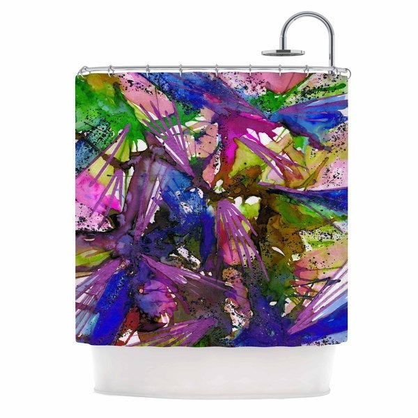 KESS InHouse Ebi Emporium Birds Of Prey - Tropical II Multicolor Painting Shower Curtain (69x70)