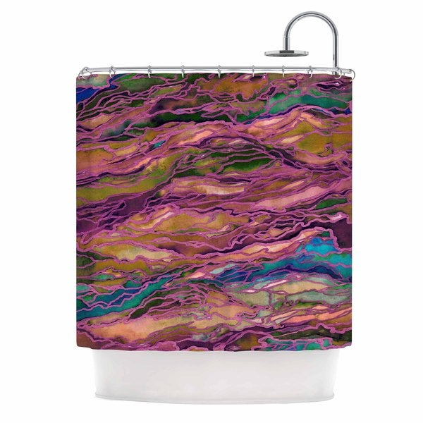 KESS InHouse Ebi Emporium Marble Idea! - Light Jewel Tone Lavender Pink Shower Curtain (69x70)