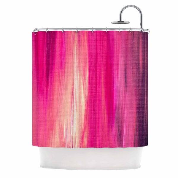 KESS InHouse Ebi Emporium Irradiated Fuchsia Magenta Pink Shower Curtain (69x70)