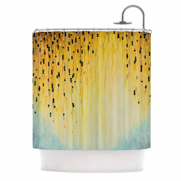 KESS InHouse Ebi Emporium Mystic Garden 1 Yellow Blue Shower Curtain (69x70)