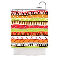 KESS InHouse Jacqueline Milton Salsa - Orange Yellow Red Shower Curtain (69x70)