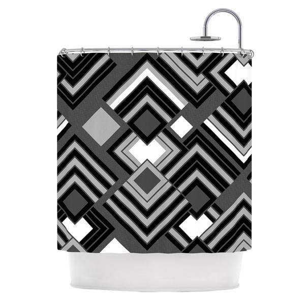 KESS InHouse Jacqueline Milton Luca - Monochrome Black White Shower Curtain (69x70)