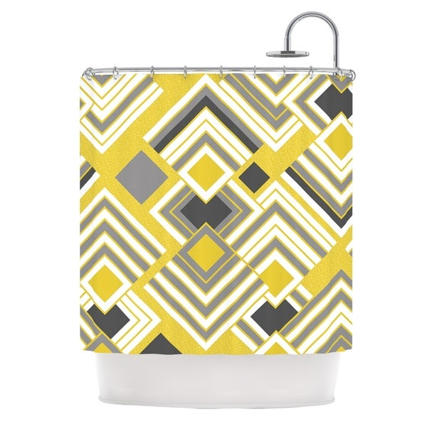 KESS InHouse Jacqueline Milton Luca - Gold Yellow Gray Shower Curtain (69x70)