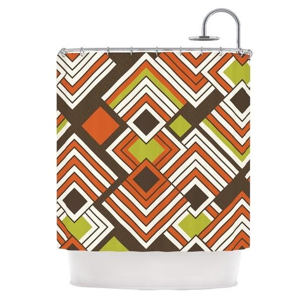 KESS InHouse Jacqueline Milton Luca - Coffee Brown Orange Shower Curtain (69x70)
