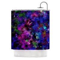 KESS InHouse Ebi Emporium Color Me Floral Celestial Blue Shower Curtain (69x70)