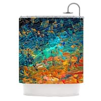 KESS InHouse Ebi Emporium Eternal Tide II Teal Orange Shower Curtain (69x70)