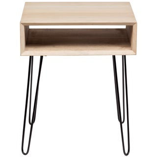 Wanderloot Graphik Mango Wood End Table With Hairpin Legs