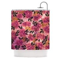 KESS InHouse Ebi Emporium Grunge Flowers II Pink Floral Shower Curtain (69x70)