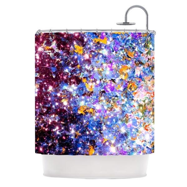 KESS InHouse Ebi Emporium Midnight Serenade Blue Purple Shower Curtain (69x70)