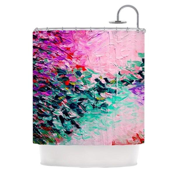 KESS InHouse Ebi Emporium Romantic Getaway Pink Teal Shower Curtain (69x70)