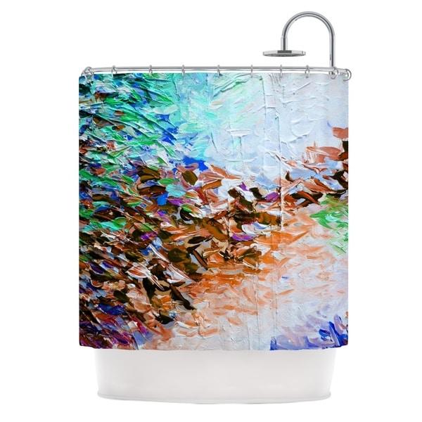 KESS InHouse Ebi Emporium Winter Retreat Brown Teal Shower Curtain (69x70)