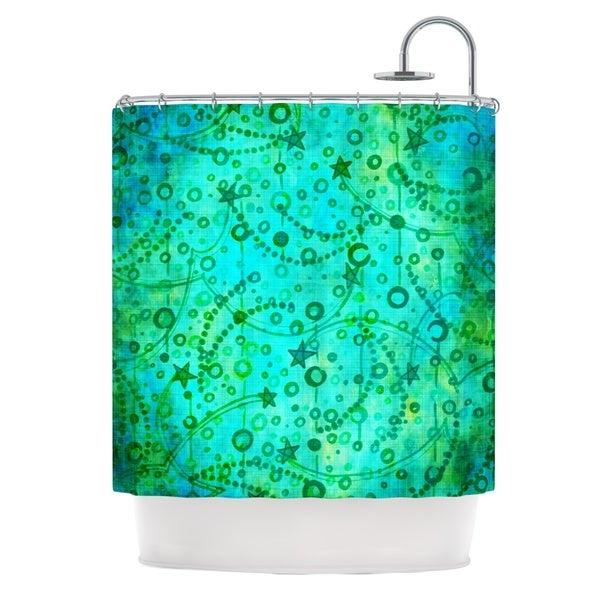 KESS InHouse Ebi Emporium Make A Wish II Teal Green Shower Curtain (69x70)