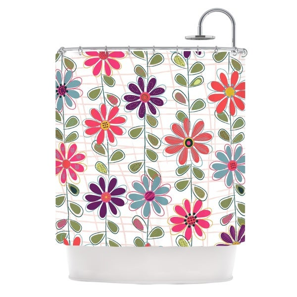 KESS InHouse Jolene Heckman Fall Flowers Floral Shower Curtain (69x70)