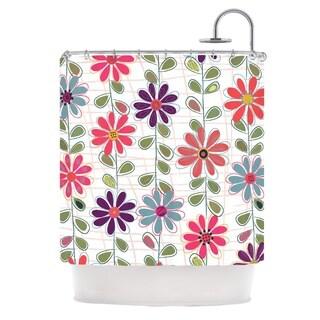 KESS InHouse Jolene Heckman Fall Flowers Floral Shower Curtain (69x70)