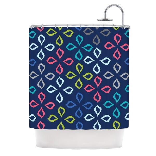 KESS InHouse Jolene Heckman Simple Flower Blue Flowers Shower Curtain (69x70)