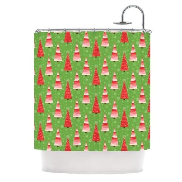 KESS InHouse Julie Hamilton Juniper Christmas Trees Shower Curtain (69x70)