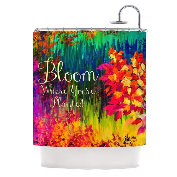 KESS InHouse Ebi Emporium Bloom Where You're Planted Floral Shower Curtain (69x70)
