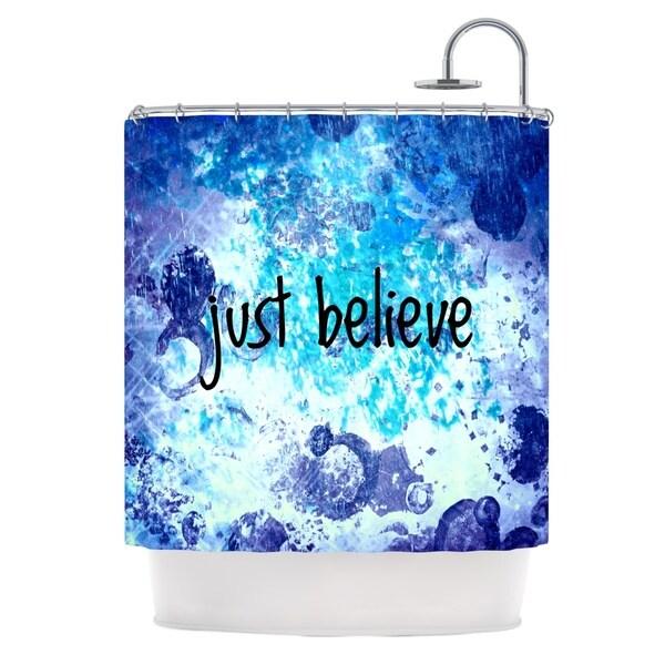 KESS InHouse Ebi Emporium Just Believe Blue Purple Shower Curtain (69x70)