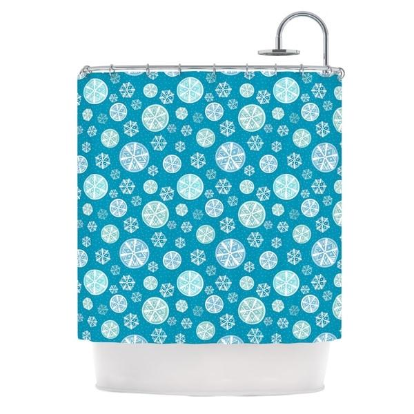 KESS InHouse Julie Hamilton Snowflake Sky Blue Shower Curtain (69x70)