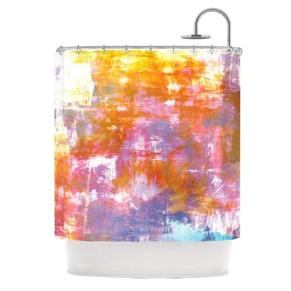 KESS InHouse Ebi Emporium Off The Grid II Multicolor Painting Shower Curtain (69x70)
