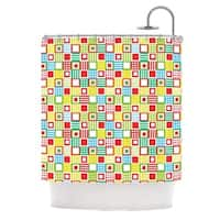 KESS InHouse Julie Hamilton Colorful Check Checkered Shower Curtain (69x70)