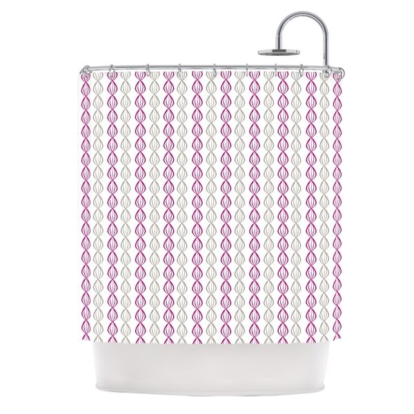 KESS InHouse Julie Hamilton Plum Pod Purple Gray Shower Curtain (69x70)