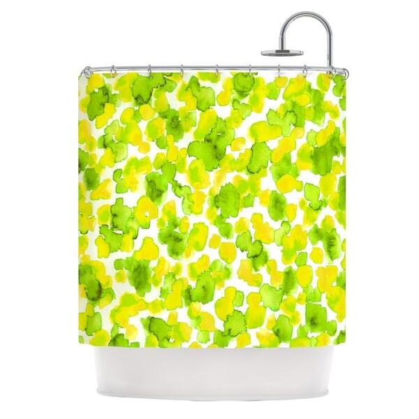 KESS InHouse Ebi Emporium Giraffe Spots - Lemon Lime Green Yellow Shower Curtain (69x70)