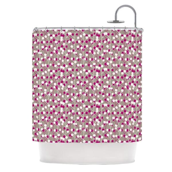 KESS InHouse Julie Hamilton Wineberry White Pink Shower Curtain (69x70)