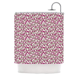 KESS InHouse Julie Hamilton Wineberry White Pink Shower Curtain (69x70)