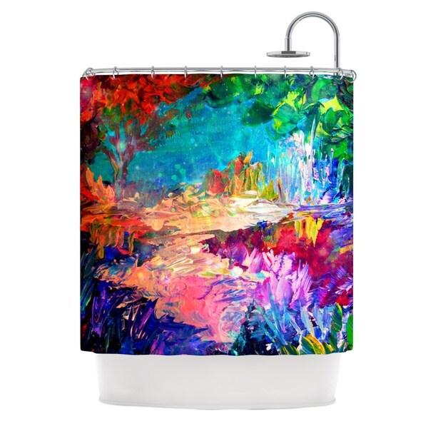 KESS InHouse Ebi Emporium Welcome to Utopia Rainbow Shower Curtain (69x70)