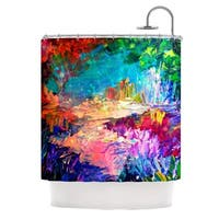 KESS InHouse Ebi Emporium Welcome to Utopia Rainbow Shower Curtain (69x70)