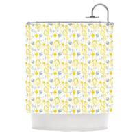 KESS InHouse Julie Hamilton Willow Wisp Yellow Gray Shower Curtain (69x70)
