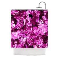KESS InHouse Ebi Emporium Floral Fantasy III Magenta Shower Curtain (69x70)