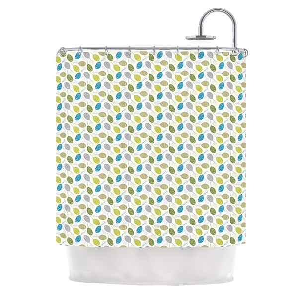 KESS InHouse Julie Hamilton Tangled Teal Shower Curtain (69x70)