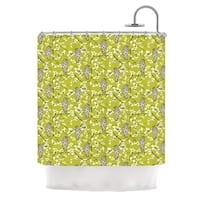 KESS InHouse Julie Hamilton Blossom Bird Shower Curtain (69x70)