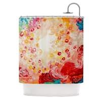 KESS InHouse Ebi Emporium Summer Days Red Tan Shower Curtain (69x70)