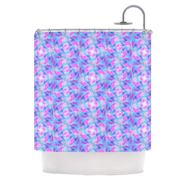 KESS InHouse Ebi Emporium Seeing Stars Blue Pink Shower Curtain (69x70)